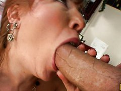 Mature Redhead Finds The Cooks Big..