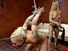 Best lesbian blonde BDSM Domination..