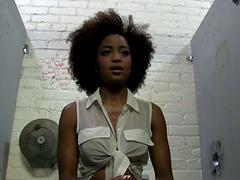 Ebony Solo Model Backstage at a..