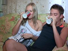 Olga and Mark are Hot Drunk Teens Fuck..