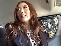 Cutie Hibiki Ohtsuki performs a car..