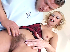 Merilin the slutty blonde with hairy..