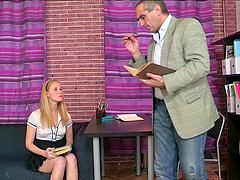Sexy secretary Oksana gets banged by..