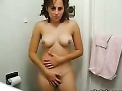 Horny Amateur Takes Off Her Clothes..
