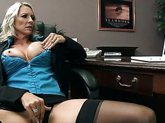 CFNM Sex In The Office with Busty MILF..