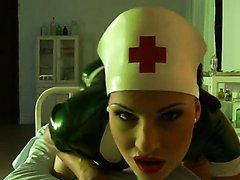 Latex Clad Euro Nurse Abbie Cat..