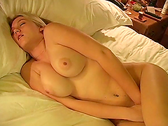 Busty ALison Angel is touching her..