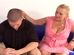 Rough sex with the busty blonde Sharon..