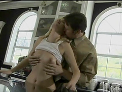 Kimberly Kane gets her mouth and pussy..