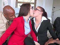 Mischa Brooks and her GF enjoy..