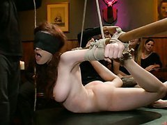 BDSM Gangbang For a Blindfoled Busty..