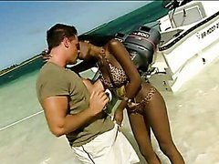 Interracial Sex At the Beach with Hot..
