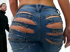 Ripping Apart Krissy Lynn's Jeans With..