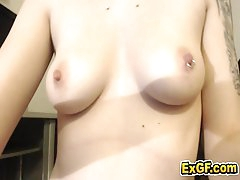 Ex girlfriend masturbation caught on cam