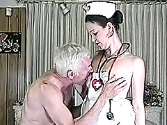 A smoking hot hot nurse is going to spread her legs