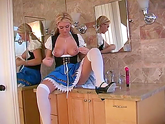 Glorious Alison Angel Plays With A Big..