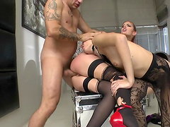 Great sex with two cock thirsty babes..