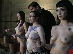 Three Crazy Young Slags In Sex Slave..