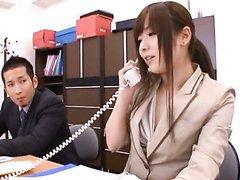 Yuu Asakura Hot Office Fuck