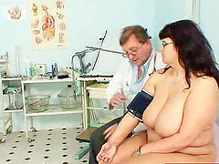 Horny Doctor Fingers His Mature..
