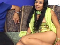 Indian babe's creampied by two guys in..