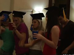 Wild Sex In Crazy Graduation Party