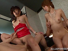 Amazing Japanese orgy with some Asian..