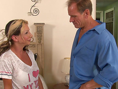 Rough sex with the busty blonde..