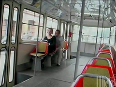 Amazing anal sex in the public bus..