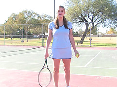 Bad Girl Plays Tennis Naked on a..