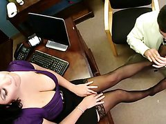 Sex In The Office with Latina MILF on..