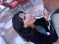 Attractive Lezley Zen Serves A Blowjob..