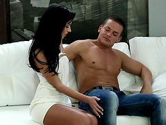 Rough sex with the horny brunette Gina..