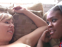 Chubby black slut Brown Sugar enjoys..