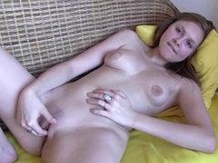 Kata A masturbates her accurate pussy