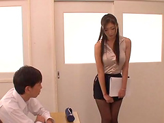 Japanese students abuse their hot teacher