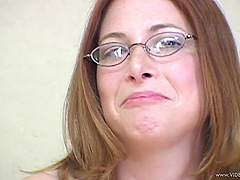 A nerdy girl sucks a BBC and then gets..