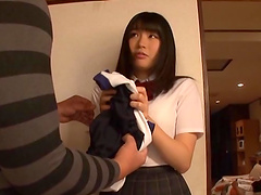 Satomi Nomiya gets a facial after..