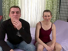 Dominika A gets her ugly hairy pussy..