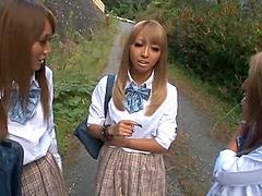 Three slutty Japanese college girls..
