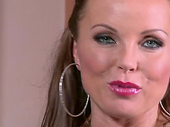 Hot milf Silvia Saint moans loudly..