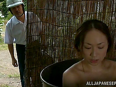 Japanese hottie gets her snatch fucked..