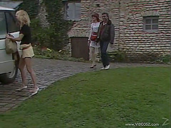 A retro porn clip with two chicks..