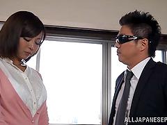 Sayuki Kanno shows her big tits and..