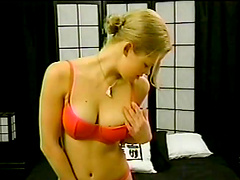 POV sex with the naughty blonde..