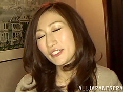 Ruri Saijo gives head to two men and..