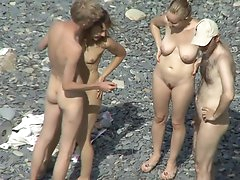 Pretty voyeur scene with awesome nudists