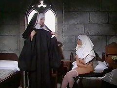 The nuns get freaky with the lesbian sex