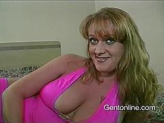 Busty cougar Julie J blows and enjoys..