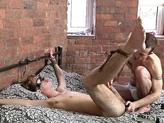 Fingered and fucked gay bottom in..